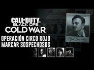 Call of Duty- Cold War - Toda la evidencia & marcar sospechosos en Operación Circo Rojo (Español)