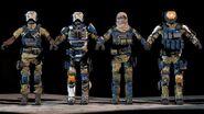 Modelos conceptuales 3D de los soldados del NRC