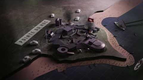 Call of Duty® WWII – Vista aérea del mapa Pointe Du Hoc del multijugador