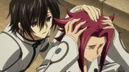 Lelouch trying to comfort Kallen