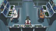 Nina, Lloyd and Cecile working on a countermeasure for F.L.E.I.J.A.