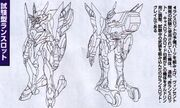 Sketch-Pre-animation Lancelot (front and back)