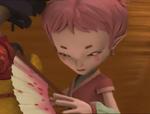 Aelita takes Yumi's fan