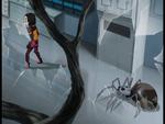 Bragging Rights robot spider behind Yumi image 2