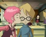 Aelita kissing Jeremie