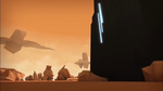 Odd approaching the Desert Sector's Way Tower