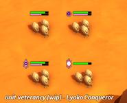Lyoko Conqueror - Unit veterancy