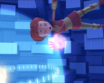 Aelita about to throw the Energy Field