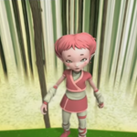 Aelita is looking at Scyphozoa with fear.png