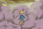 Jeremie surrounded by smoke