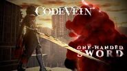 CODE VEIN - One-Handed Sword Weapon Trailer X1, PS4, PC