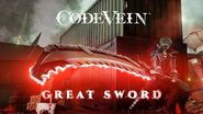 CODE VEIN - Great Sword Weapon Trailer X1, PS4, PC