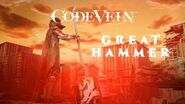 CODE VEIN - Great Hammer Weapon Trailer X1, PS4, PC