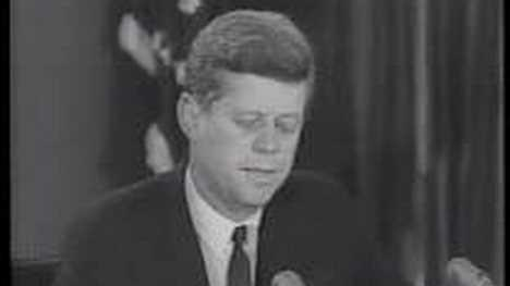 Kennedy addresses the nation on the Cuban Missile Crisis