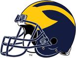 NCAA-Big 10-Michigan Wolverines Helmet-Right side