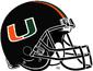 NCAA-ACC-Miami Hurricanes Black helmet