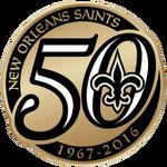 NFL-NFC-1028px-New Orleans Saints-50th anniversary logo-2016