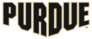 NCAA-Big 10-Purdue Boilermakers Alternate White Script Logo