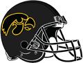 NCAA-Big 10-Iowa Hawkeyes-Black alt helmet