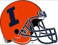 NCAA-Big 10-Illinois Fighting Illini Orange helmet