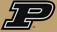 NCAA-Big 10-Purdue Boilermakers Black Trim Gold logo