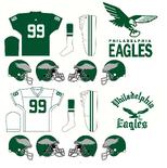 NFL- NFC-PHI -1955-68 Eagles Logos andJerseys