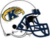 Kent State Golden Flashes White Helmet-Navy Blue facemask