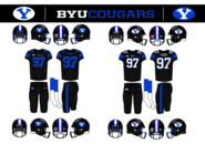 BYU Cougars Blackout Jersey