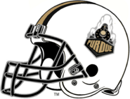 NCAA-Big 10-Purdue Boilermakers White Helmet