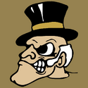 Wake Forest Demon Deacon mascot head logo