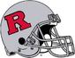NCAA-Big 10-Rutgers Scarlet Knights Silver helmet-silver facemask