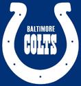 1979-83 Baltimore Colts alternate logo-blue backgrond