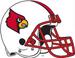 NCAA-ACC-2007-08 Louisville Cardinals white helmet