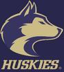 NCAA-Washington Huskies-Secondary logo-2007-Purple