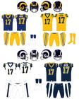 NFL-NFC-LA Rams uniforms 2018