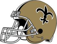 NFL-NFC-NO-1967-75 Saints helmet-Right side