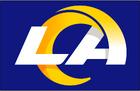 NFL-NFCW-LA Rams 2020 logo-blue background