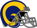 NFL-NFCW-Helmet-LA Rams-Yellow Horn Logo-Grey Mask-Left face.png