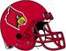 NCAA-ACC-Louisville Cardinals Red helmet-red fasemask
