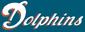 Dolphins alternate white coral trim aqua background wordmark