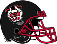 ArenaLeague-NJ Red Dogs Black Red Helmet