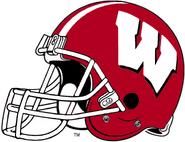 NCAA-Big 10-Wisconsin Badgers Crimson Helmet-Right side