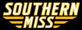 Southern Miss Script Logo black