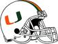 NCAA-ACC-Miami Hurricanes White helmet