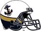 NCAA-AAC-Navy 3 tone alternate helmet-Anchor logo