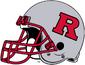 NCAA-Big 10-Rutgers Scarlet Knights Silver helmet-Right side