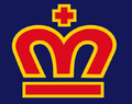 WLAF-London Monarchs Helmet logo-Blue Background