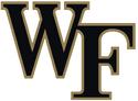 NCAA-ACC-Wake Forest Demon Deacons black gold trim logo
