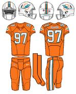 NFL-AFC-MIA-2016 Orange Color Rush
