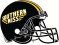 NCAA-USA-Southern MIss Black primary helmet